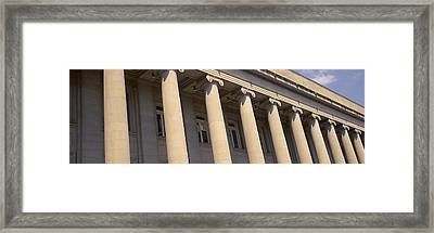 Shelby County Courthouse Columns Framed Print