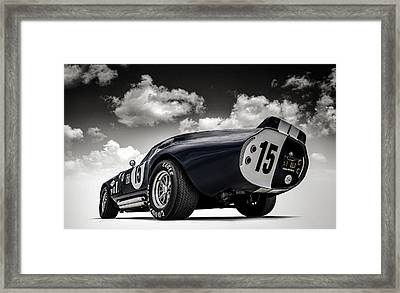 Framed Print featuring the digital art Shelby Daytona by Douglas Pittman