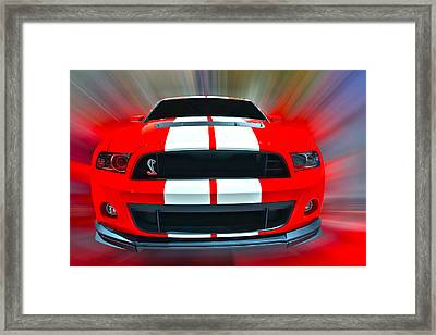Shelby Gt 500  2013 Framed Print