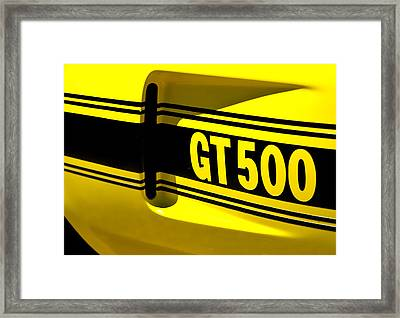 Shelby Gt500 Framed Print by Phil 'motography' Clark