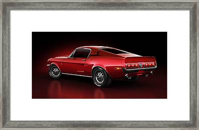 Shelby Gt500 - Redline Framed Print by Marc Orphanos