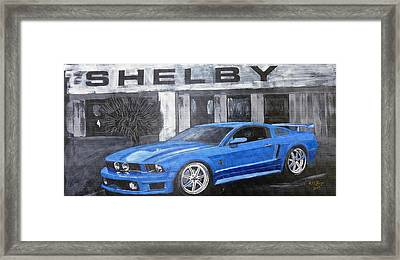 Framed Print featuring the painting Shelby Mustang by Richard Le Page