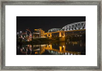 Shelby Street Bridge Nashville Framed Print