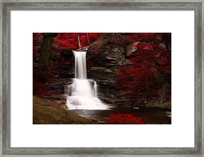Sheldon Reynolds Waterfalls Framed Print by David Simons