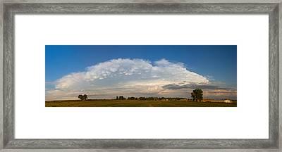 Shelf Cloud Mamacumulus Leading Edge  Framed Print