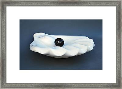 Shell And Pearl Framed Print by Leslie Dycke