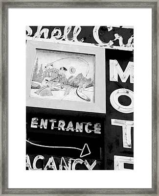 Shell Crest Motel Framed Print by Gail Lawnicki