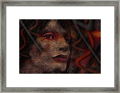 Shell Cyborg Portrait Framed Print