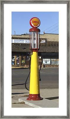 Shell Gas - Wayne Visible Gas Pump Framed Print by Mike McGlothlen