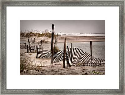 Framed Print featuring the photograph Shell Island Hurricane Sandy by Phil Mancuso