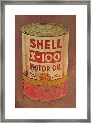 Shell Motor Oil Framed Print