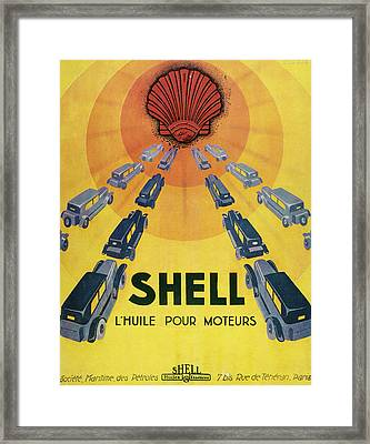 Shell Oil For Cars         Date 1929 Framed Print by Mary Evans Picture Library