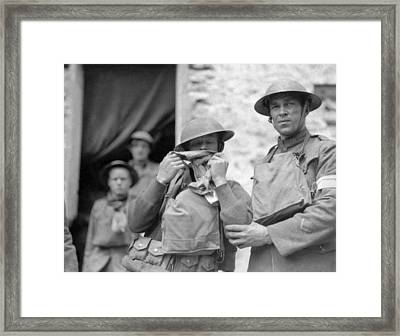 Shell Shocked Soldier Framed Print