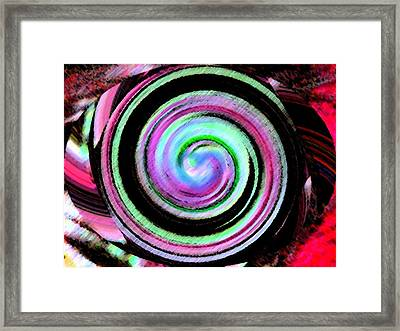 Framed Print featuring the digital art Shell Shocked Unframed by Catherine Lott