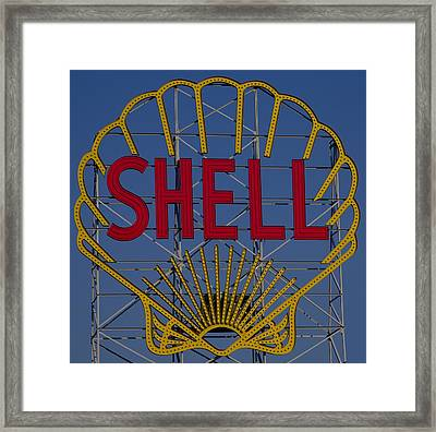 Shell Sign Cambridgeside Framed Print