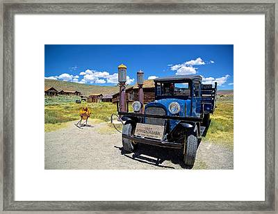 Shell Station In Bodie Framed Print