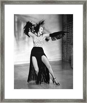 Shelley Winters Performing Framed Print