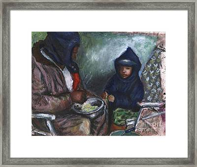 Shellin Peas With Grandpa Framed Print