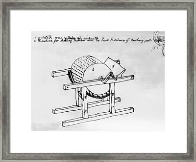 Shelling Machine Framed Print