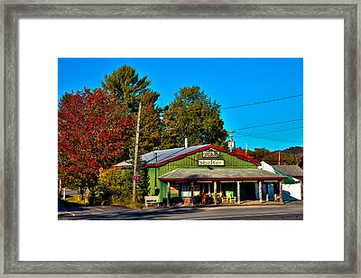Shelter - Custom Adk Furniture Store Framed Print by David Patterson