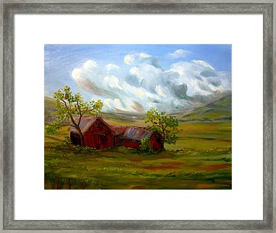 Shelter From The Storm Framed Print by Meaghan Troup