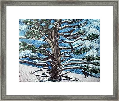 Framed Print featuring the drawing Shelter by Grace Keown