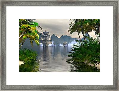 Shelter Harbor Longshot Framed Print by Claude McCoy