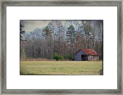 Shelter In The Midle Of Nowhere Framed Print by Paulette B Wright