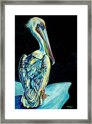 Shelter Island Pelican Framed Print by Derrick Higgins