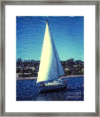 Shelter Island Sailing Framed Print