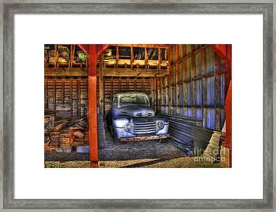 Shelter Me 1948 Ford Pickup Truck  Framed Print