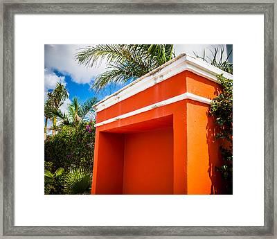 Shelter Orange Framed Print