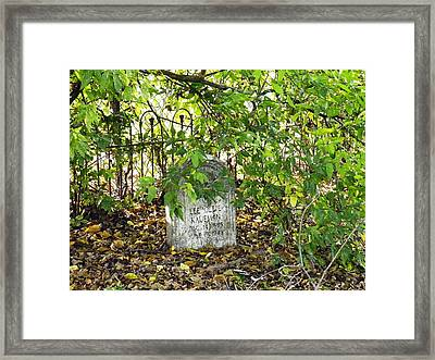 Sheltered Grave Framed Print