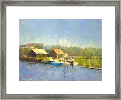 Shem Creek Docks Framed Print
