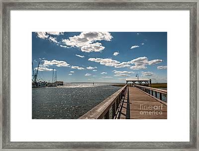 Shem Creek Pavilion  Framed Print