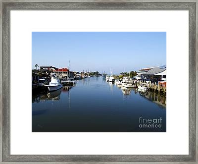 Shem Creek Mount Pleasant Charleston South Carolina Framed Print
