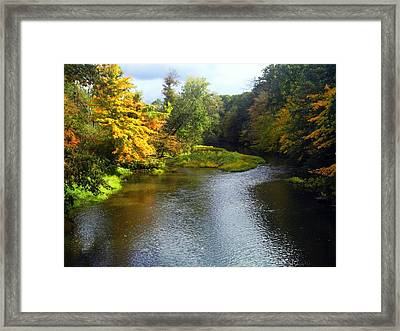 Shenago River @ Iron Bridge Framed Print by Joyce  Wasser