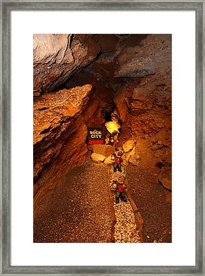 Shenandoah Caverns - 121210 Framed Print by DC Photographer