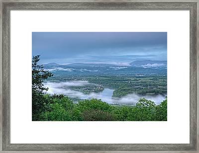 Shenandoah Evening Fog Framed Print by Lara Ellis