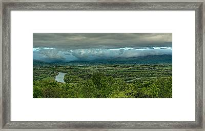 Shenandoah Green Valley Framed Print by Lara Ellis