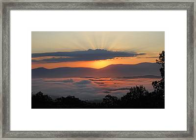 Shenandoah Morning Sunrise Fog  Framed Print
