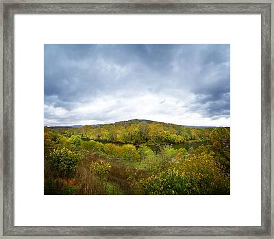 Shenandoah River Panorama Framed Print by Mark Andrew Thomas