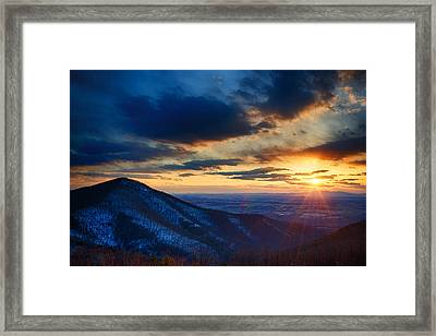 Shenandoah Sunset Framed Print by Joan Carroll