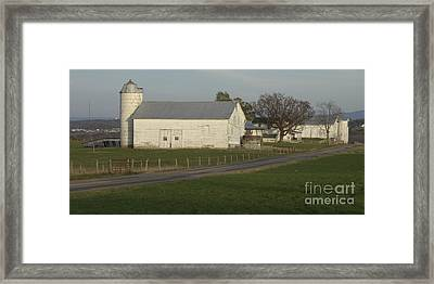 Shenandoah Valley Farm Panorama Framed Print by Anna Lisa Yoder