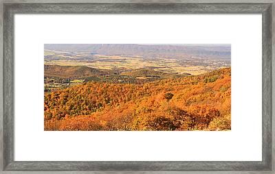 Shenandoah Valley In Autumn Framed Print