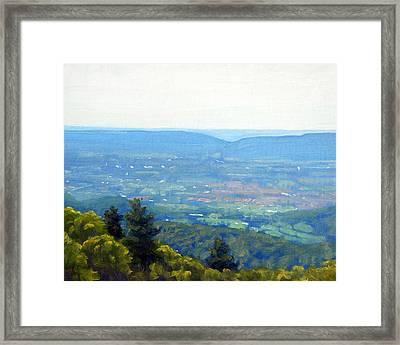 Shenandoah Valley Overlook Framed Print