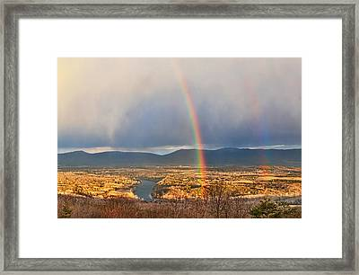 Shenandoah Valley Winter Rainbow Framed Print by Lara Ellis