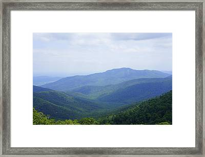 Framed Print featuring the photograph Shenandoah View by Laurie Perry