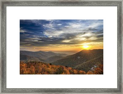 Shenandoah Virginia Sunset Framed Print by Pierre Leclerc Photography