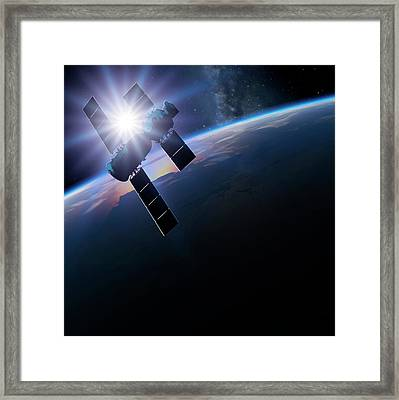 Shenzhou 5 In Orbit Framed Print by Detlev Van Ravenswaay